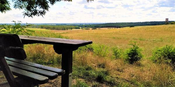 Sitzbank mit toller Aussicht vom Dolchauer Berg