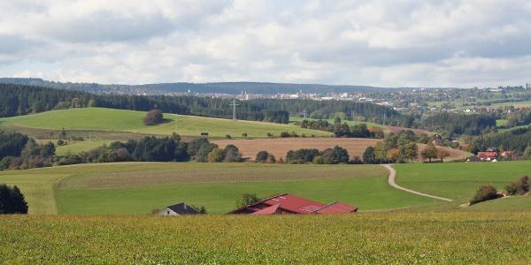 Blick von Dornstetten nach Freudenstadt