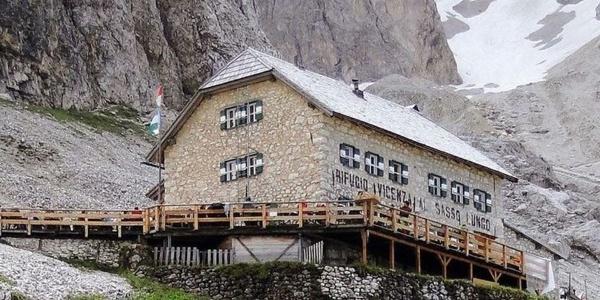Inmitten der der Bergriesen liegt die Langkoflelhütte unterhalb des gleichnamigen Berges.