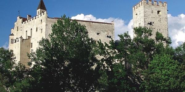 The castello di Brunico castle over the city.