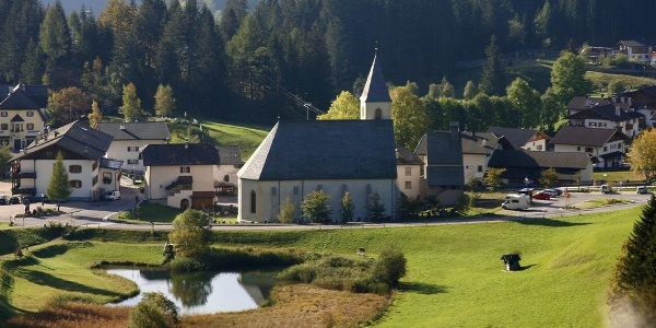 The Pilgrimage Church of the Assumption is located in the peaceful village of Senale (Our Lady in the forest)