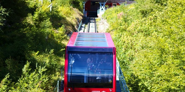 The Mendola funicular in Kaltern - Caldaro, the most interesting public transport in South Tyrol