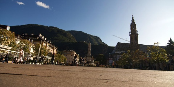 View of the Piazza Walther square in Bolzano