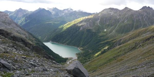Der Stausee im hinteren Mühlwalder Tal.