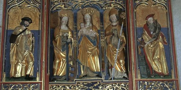 Altar in Kirche in Corvara