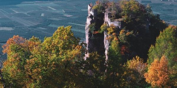 Die Ruine Greifenstein oberhalb Siebeneich