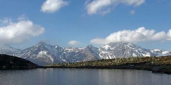 Blick auf die Zillertaler Alpen