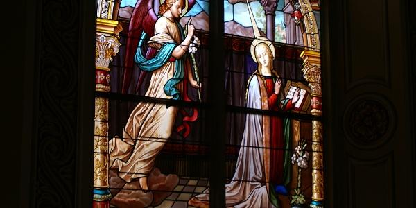 Glasfenster, Pfarrkirche Heiliger Jodok