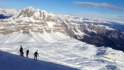 Itinerario classico di sci alpinismo tra le Dolomiti di Brenta