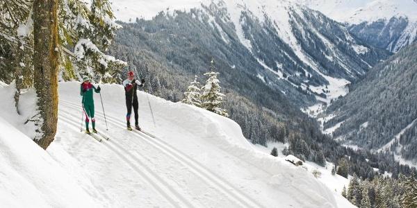 Die Höhenloipe ist sehr Schneesicher.