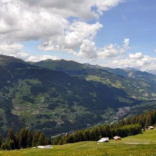 Panorama von der Saaseralp aus in Richtung Küblis