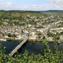 Blick auf den Ortsteil Traben von der Grevenburg