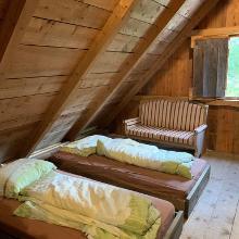 Unsere Schlafstätte im Heulager.