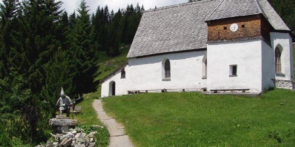 St. Agatha Bergknappenkapelle im Sommer