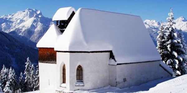 St. Agatha Bergknappenkapelle im Winter