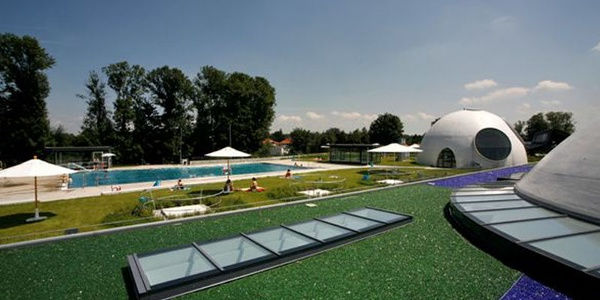 Freibad an der Therme Bad Aibling.