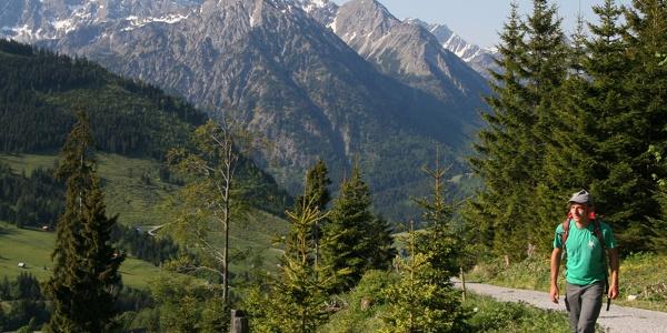Start oberhalb von Oberjoch.