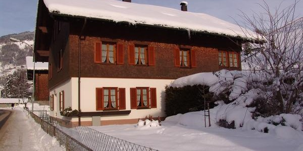 Hausansicht, Winter