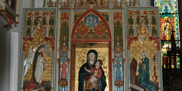 Kuratienkirche Heiliger Wolfgang Seitenaltar
