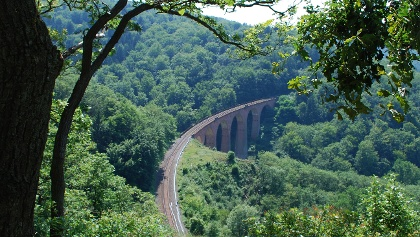 Blick auf das Hubertus Viadukt der Hunsrückbahn