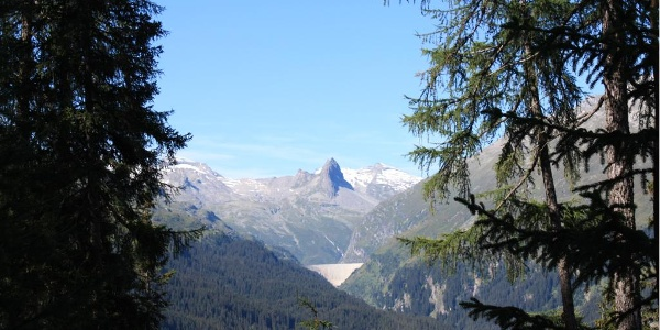 Etappe 3: Blick auf das Zervreilahorn, Vals