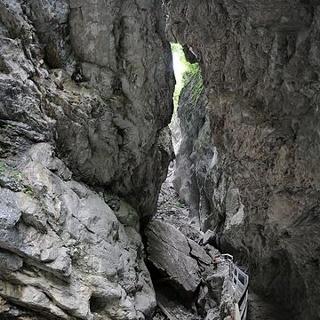 Der Felssturz in der Rappenlochschlucht