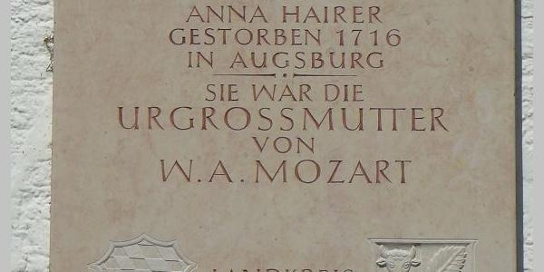 Mozart-Gedenkstein in Buch am Buchrain