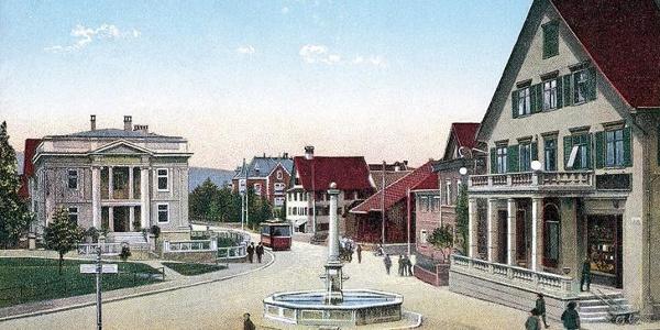 Pfarrhof und Kirchturm St. Martin