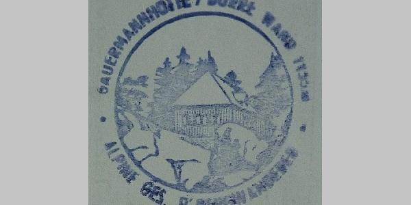 Gauermannhütte - Hüttenstempel