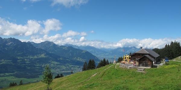Älpele am Dünserberg, einer der schönsten Aussichtspunkte in den Walgau