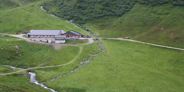 Unterwegs kommt man an der Alpe Nova vorbei