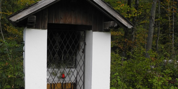 Kurz vor der Rettenbachklamm passieren wir eine Kapelle.