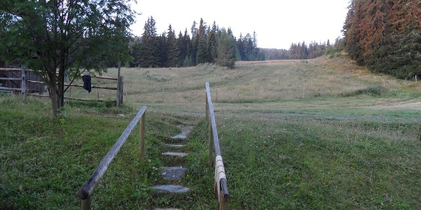 Von der Murauer Hütte aus den Berg hinauf.