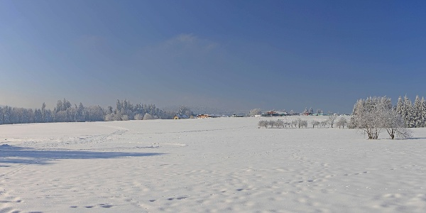 """Schneeschuh-Laufen auf den """"Reutäckern"""""""
