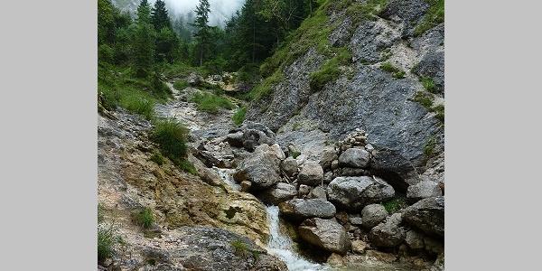 Wasserlauf in den Lechnergräben