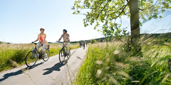 Radfahrer auf der Westerwaldschleife