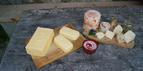 Milchprodukte der Alpe Garnera
