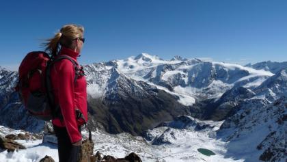 Überwältigt von diesem Bergpanorama mit der 3770 m hohen Wildspitze.