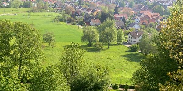 Blick auf Langensteinbach