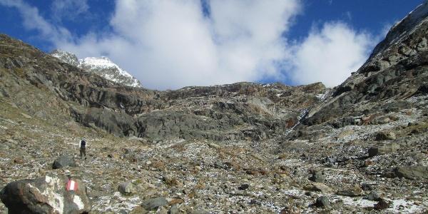 Auf dem Weg zum Gletscherschliff
