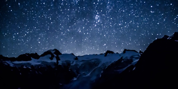 Nachtimpression auf dem Biwak