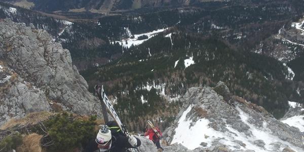 Aufstieg oben mit Ötscher im Hintergrund