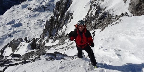 Knapp unterhalb des Gipfels