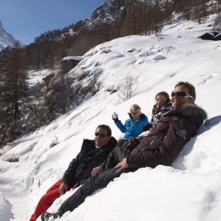Plaisir hivernal pour toute la famille