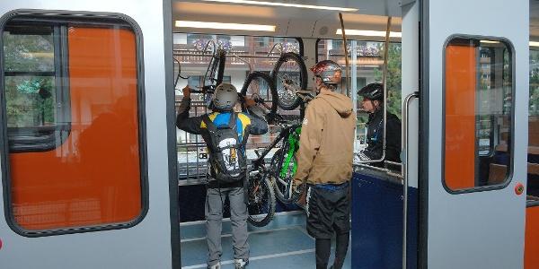 Transport de vélos à bord du Gornergrat Bahn