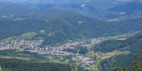 Blick vom Ibacher Holzplatz nach Oppenau