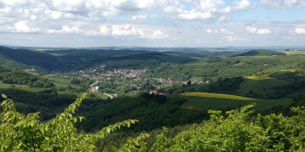 Blick von der Heidenburg Richtung Wolfstein