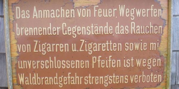 Historische Tafel am Otto Kandler Haus