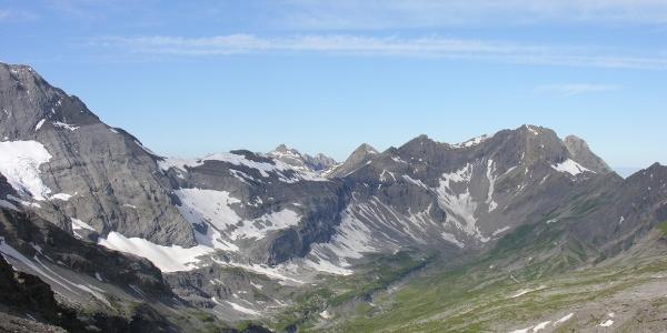 Blick vom Col de Susanfe ins Vallon de Susanfe