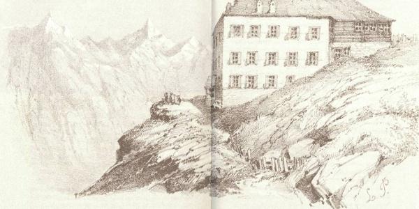 """L'hôtel Riffelberg à l'époque de Mark Twain – extrait de son livre """"Climbing the Riffelberg"""""""